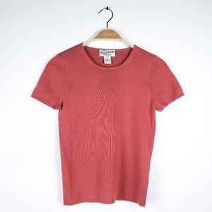 Vintage Pendleton Merino Wool Mauve Sweater Short